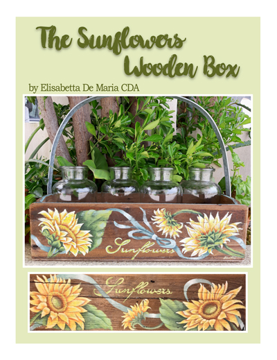 Sunflowers Wooden Box Slide